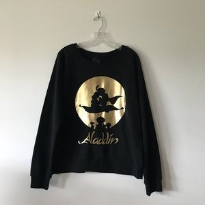 Disney's Aladdin Black Crewneck Sweatshirt